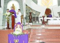 Một số hình ảnh lễ Giỗ 100 ngày Lm Giuse Maria Đinh Cao Tùng tại nhà thờ Tân Thái Sơn