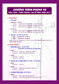 Chương Trình Phụng Vụ Tĩnh Tâm Mùa Chay và Tuần Thánh 2015 Gx Tân Thái Sơn.