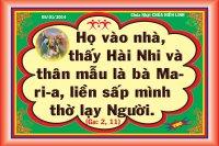 Phân tích và chia sẻ lời Chúa Chúa Nhật (05/01/2014)