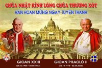 Giaó Dân Tân Thái Sơn Theo dõi trực tiếp Lễ Tuyên Thánh Hai Giáo Hoàng.