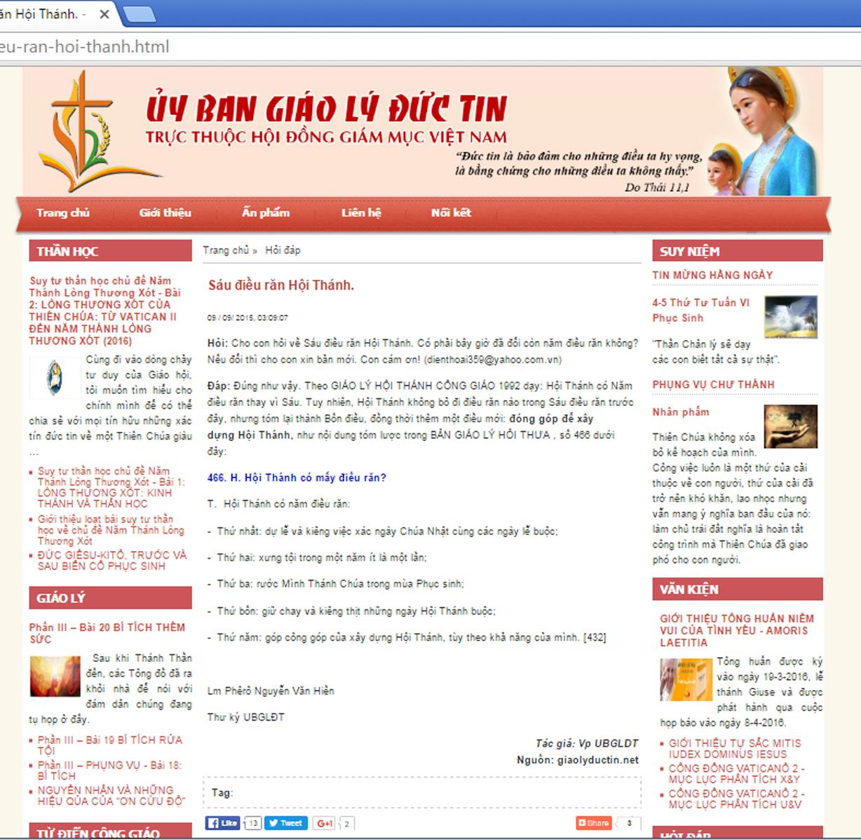 Hỏi Đáp Về Năm Điều Răn Hội Thánh
